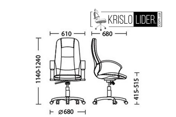 Крісло Modus steel chrome Anyfix - 6