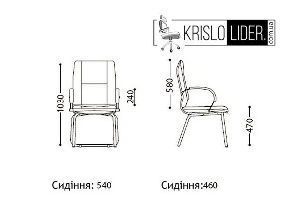 Крісло Star CFA LB steel chrome  - 3