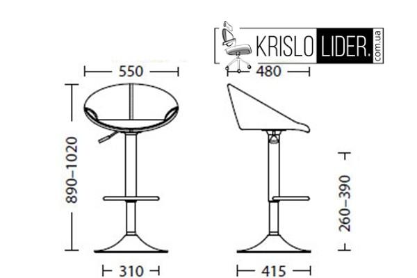 Крісло Rose Lux chrome - 2