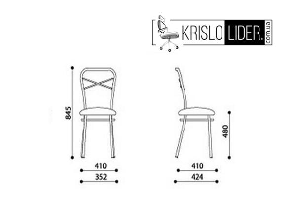 Крісло Castano chrome - 4