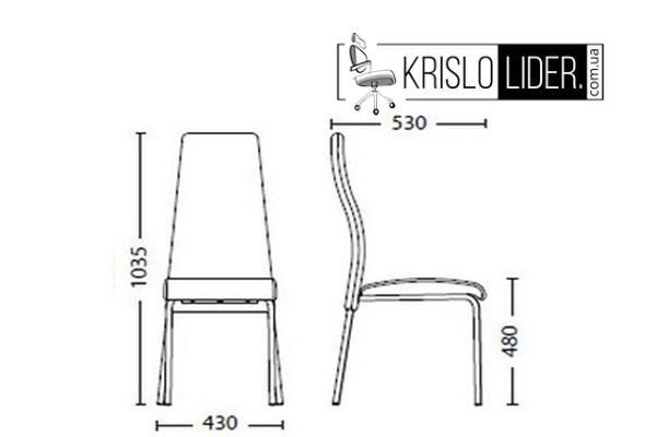 Крісло Tailer II chrome - 3