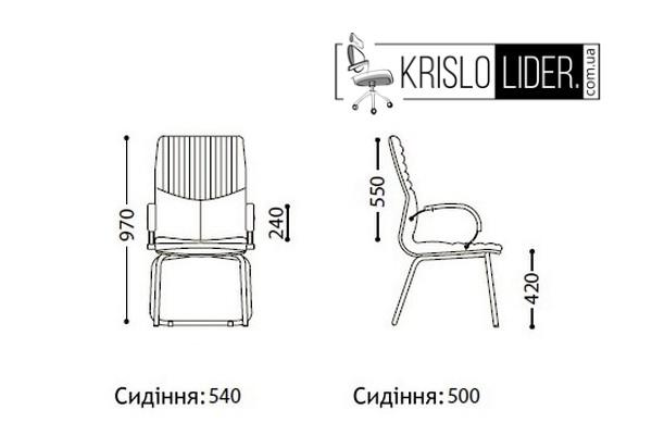 Крісло Germes CFA LB steel chrome - 3