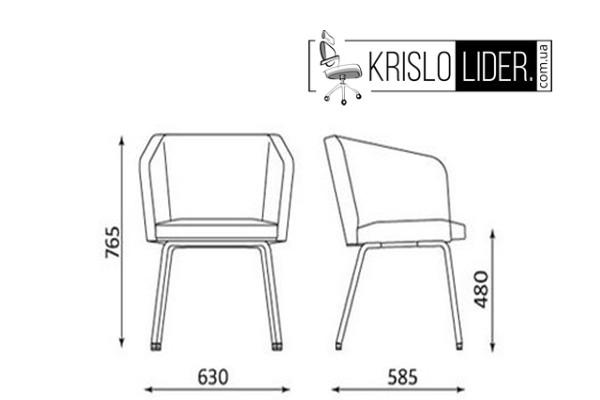 Крісло Hello 4L chrome - 3