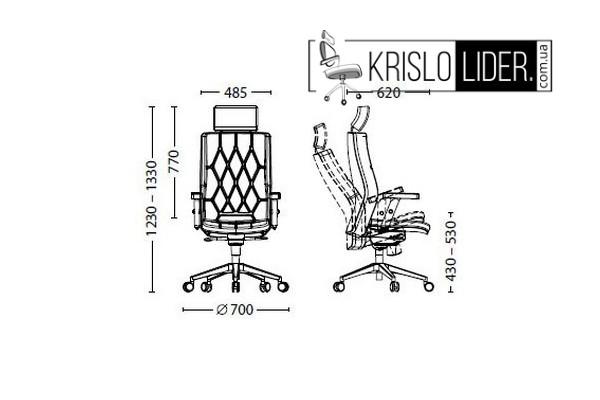 Крісло Chester R HR steel chrome - 5